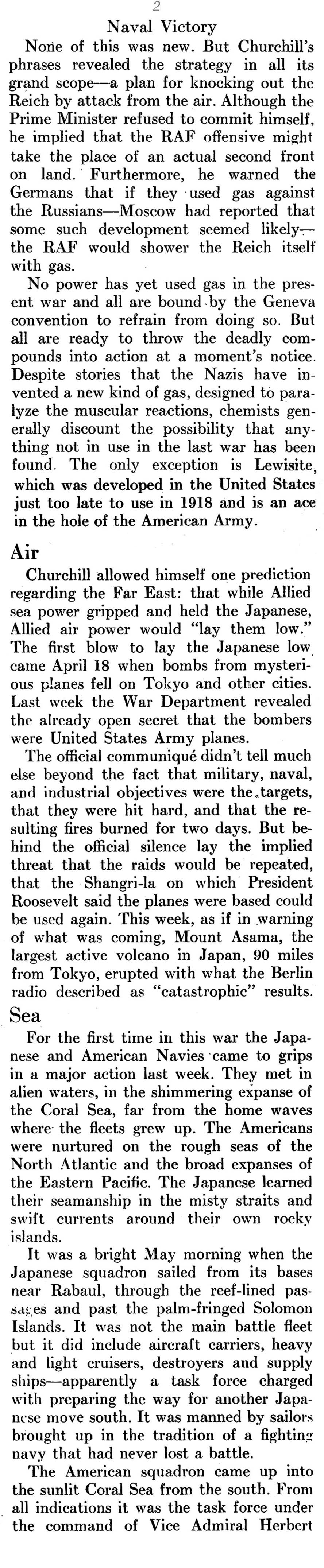The Battle of the Coral Sea (Yank Magazine, 1943)