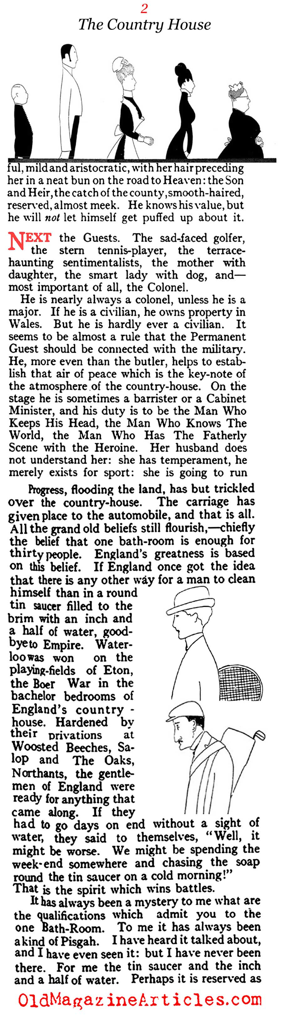 The English Country House: What Good Is It?  (Vogue Magazine, 1914)