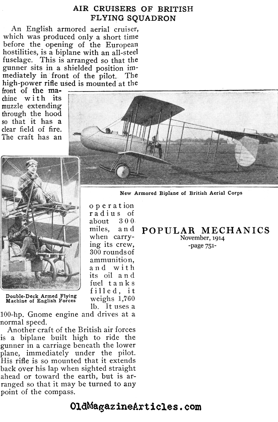 Air Cruisers of the British Flying Squadron  (Popular Mechanics, 1914)