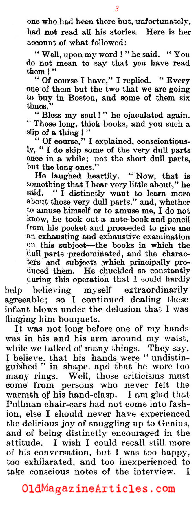 A Child's Interview With Dickens   (The Literary Digest, 1912)