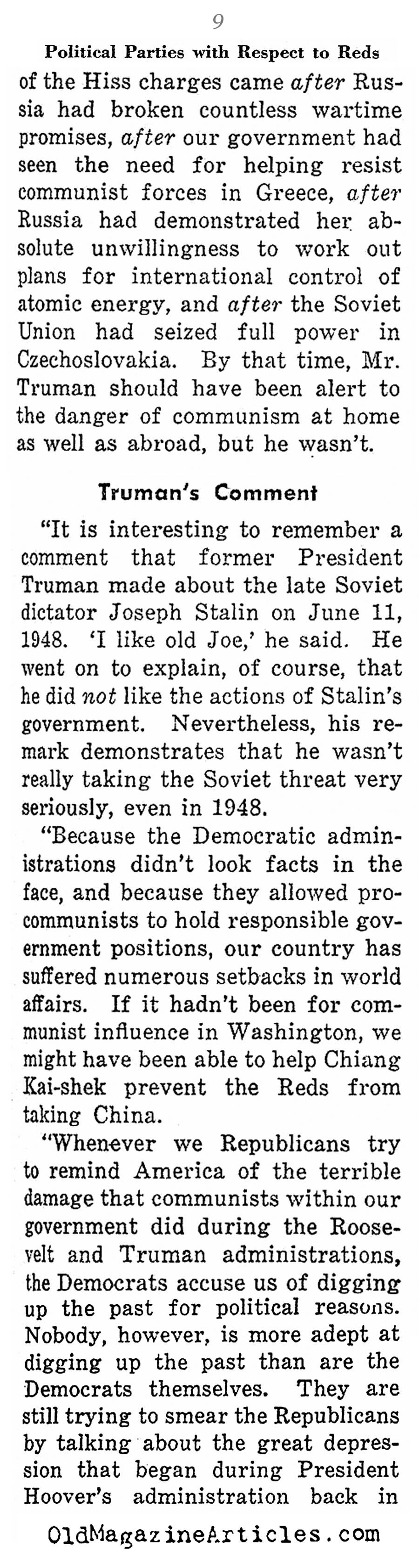 Reds in the Government (Weekly News Review, 1953)