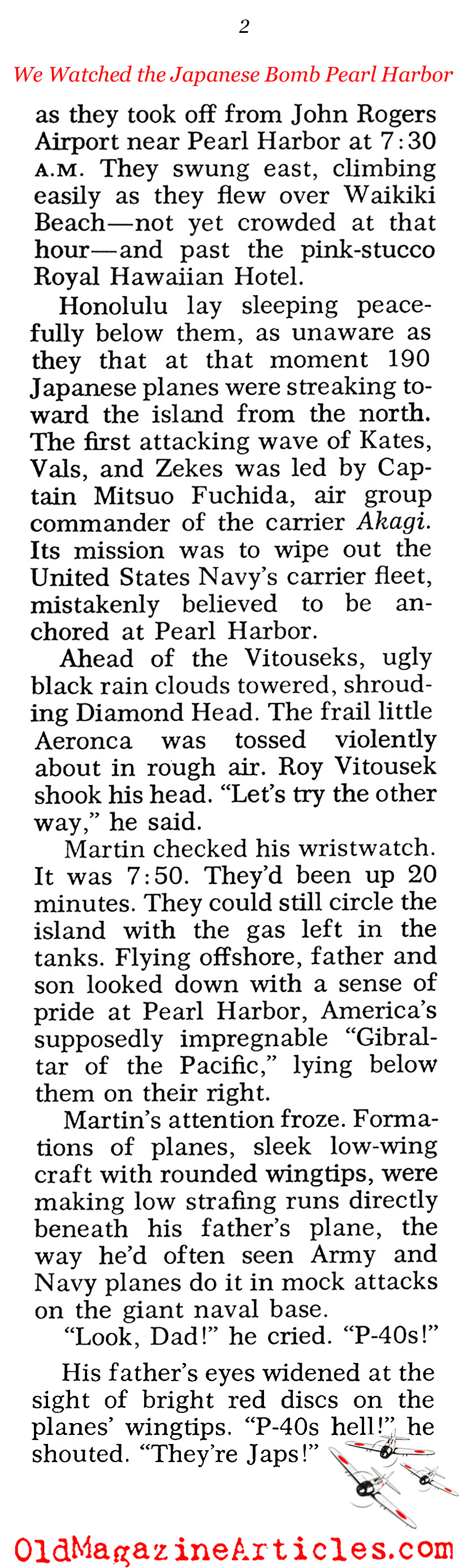 Father and Son Over Pearl Harbor (Pageant Magazine, 1970)
