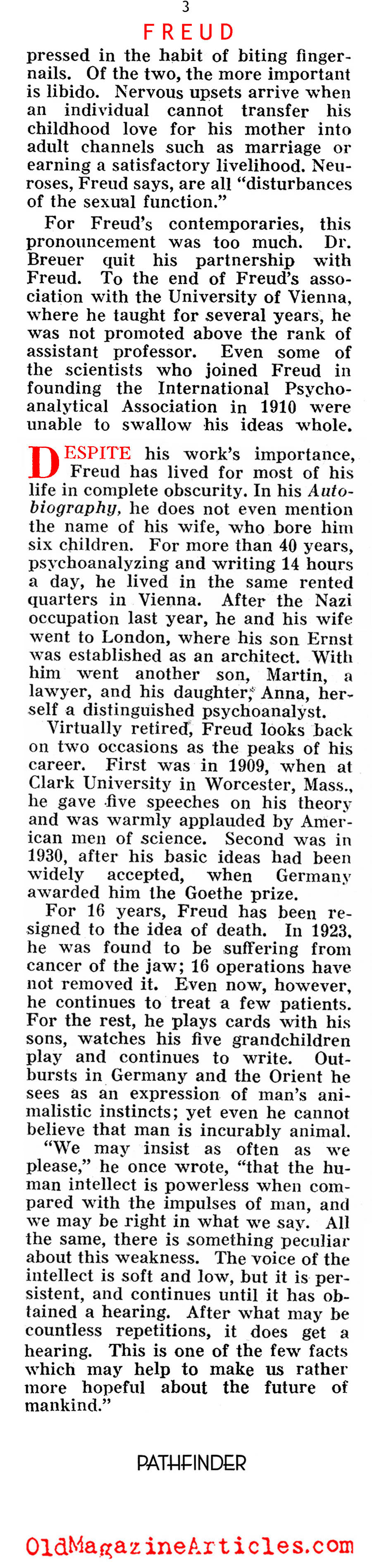 Dr. Freud (Pathfinder Magazine, 1939)