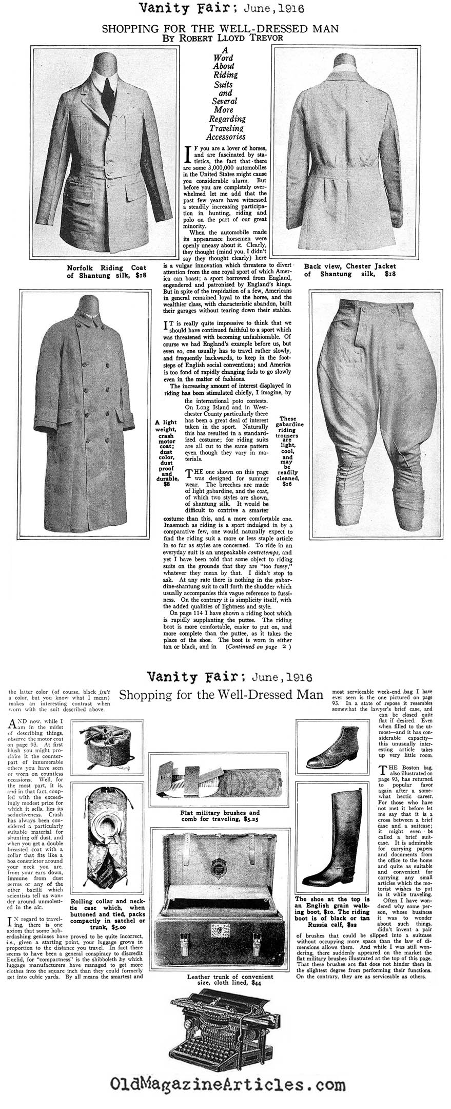 Equestrian Jackets 1916 Equestrian Man Clothing 1920s Magazine Article Man Horse Back Riding Clothing Fashion History Article Man Riding Habits 1920s Riding Jacket Magazine Article Concerning Mens Equestrian Suiting 1916 Man Equestrian Clothing Article