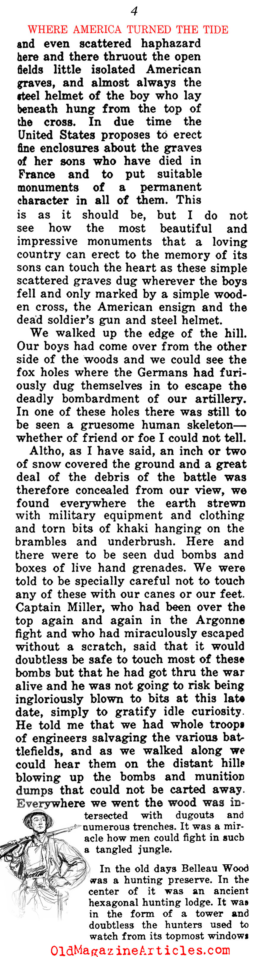 A Walk Through Five <BR>W.W. I American Battlefields  (The Independent, 1919)