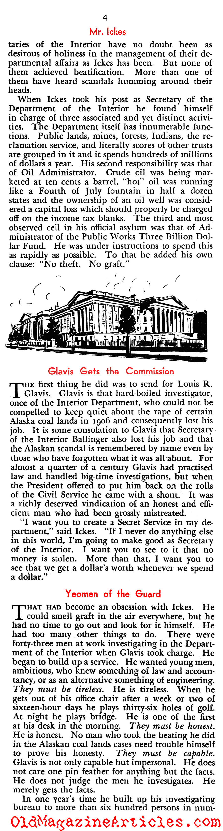 Harold Ickes Wrote the Relief Checks (New Outlook, 1935)