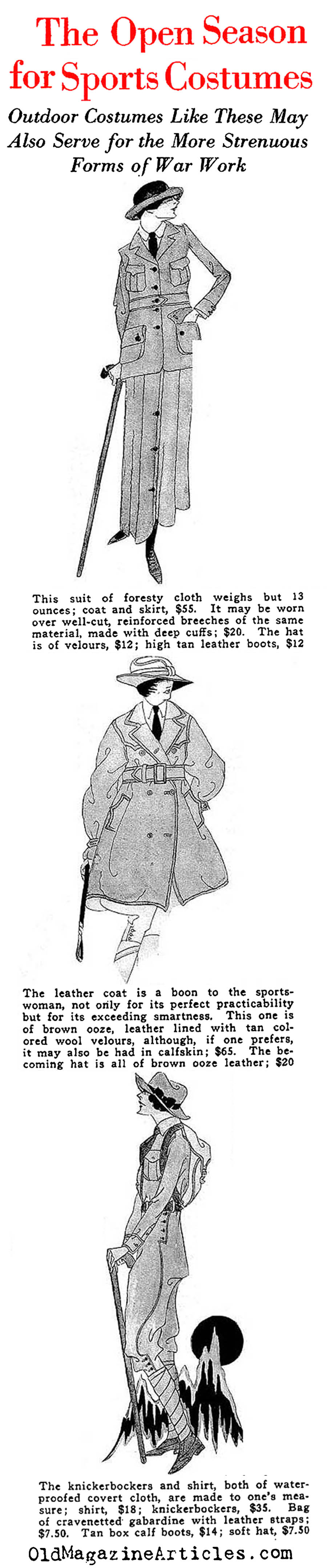 The Great War and It's Influence on Feminine Fashion   (Vanity Fair, 1918)