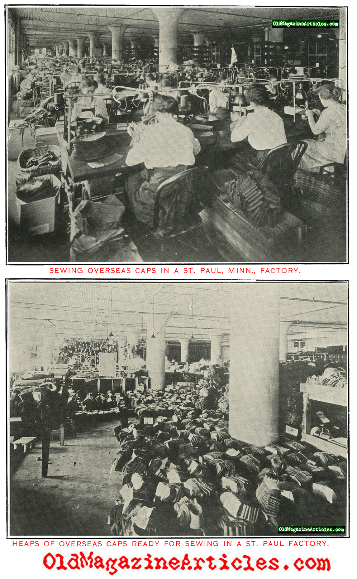 Manufacturing the Overseas Cap (America's Munitions, 1919)