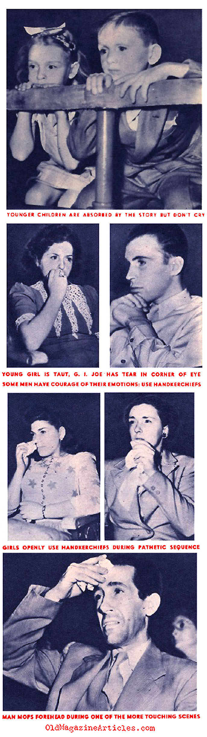 Tears in the Dark of the Theater (Click Magazine, 1944)