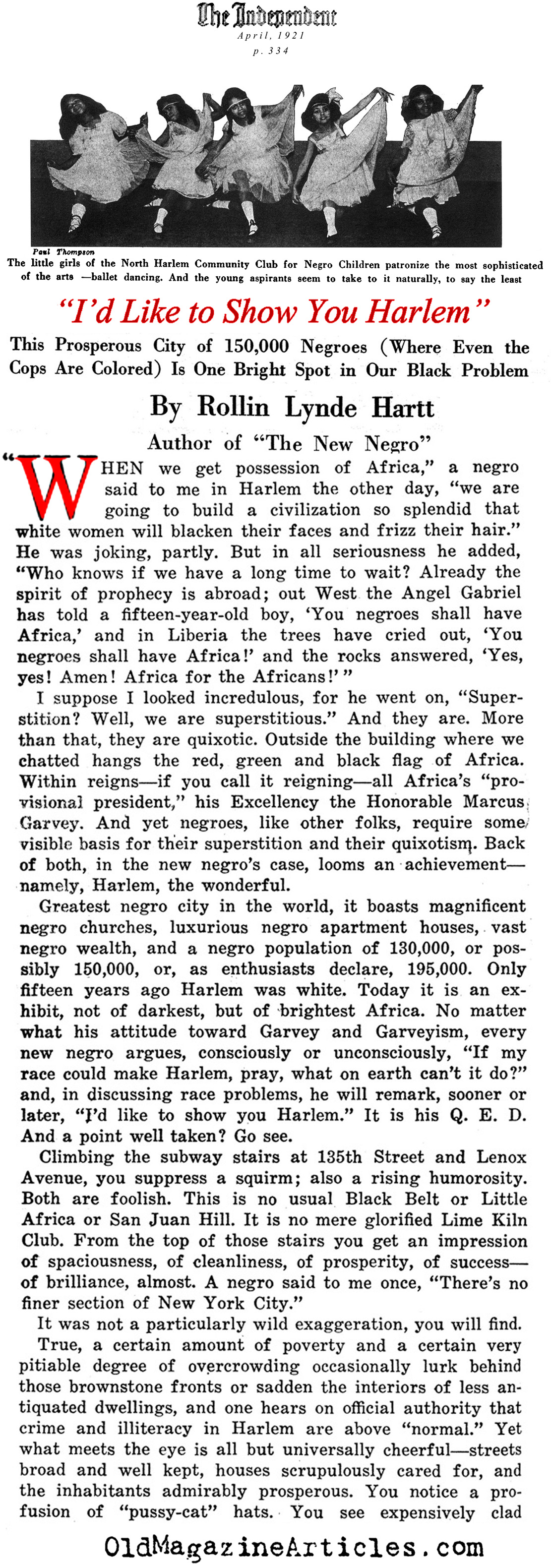 harlem renaissance newspaper article