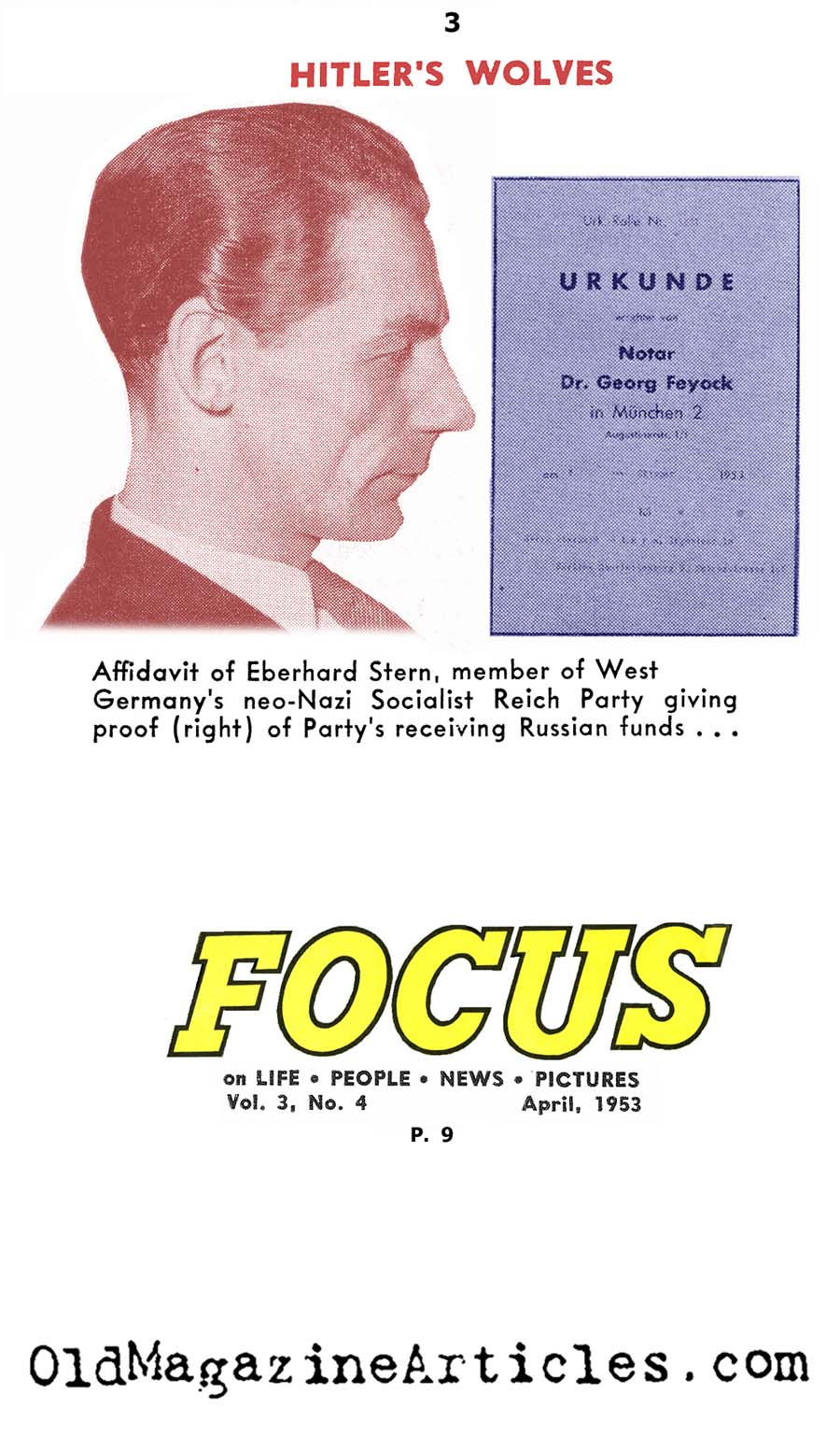 Nazis in The East German Government (Focus Magazine, 1953)