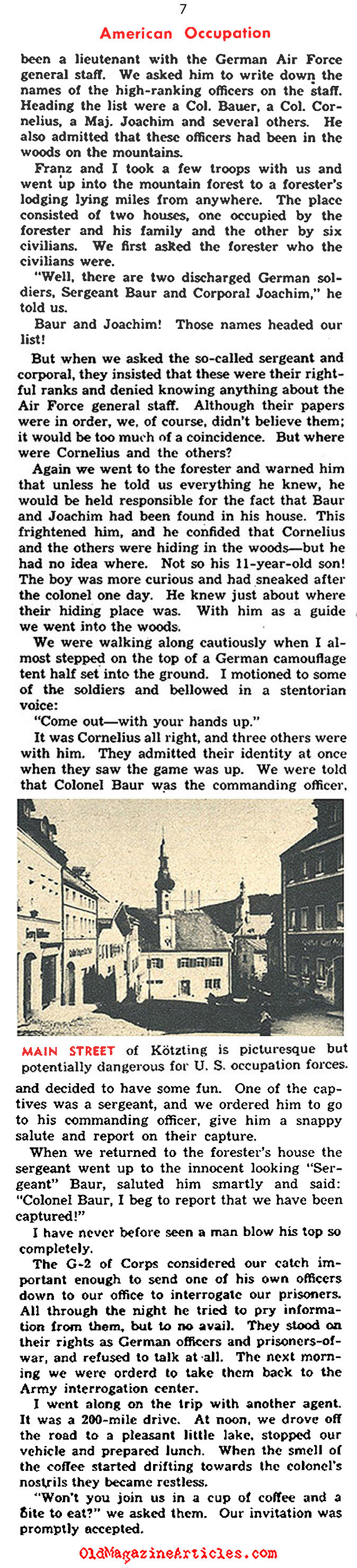 The Hunt in Occupied-Germany (Pic Magazine, 1946)