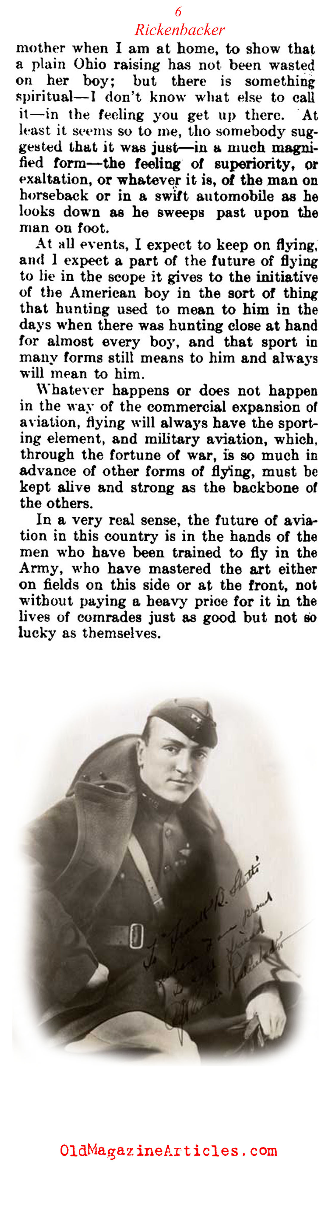 Captain Eddy Rickenbacker: Ace of Aces (The Literary Digest, 1919)