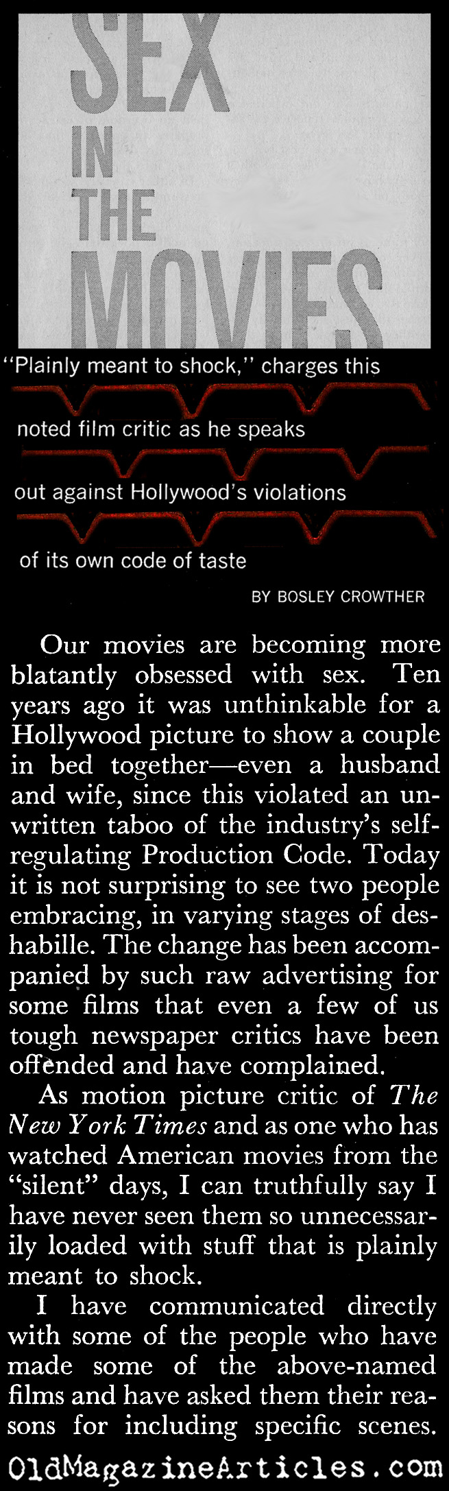 Sex in the Movies (Coronet Magazine, 1961)
