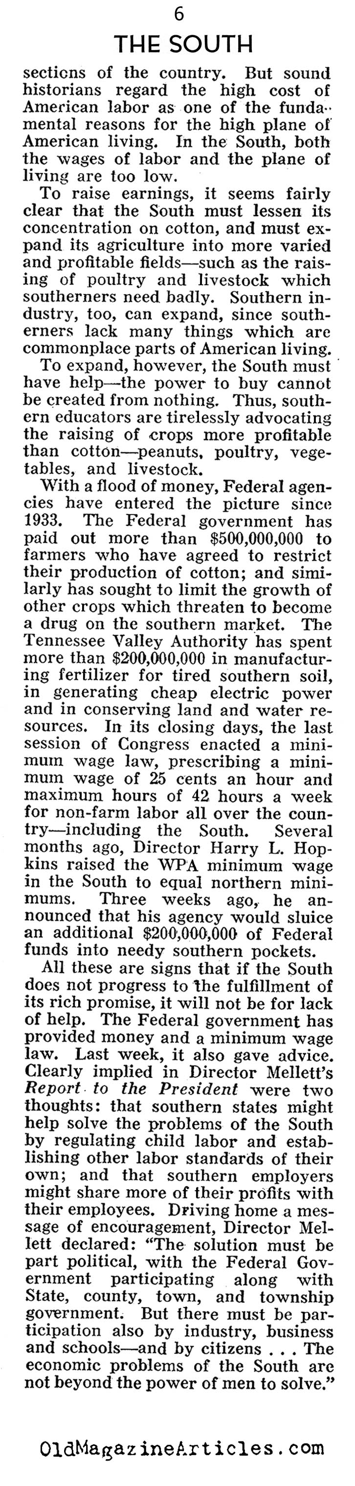 The Great Depression in the South (Pathfinder Magazine, 1938)