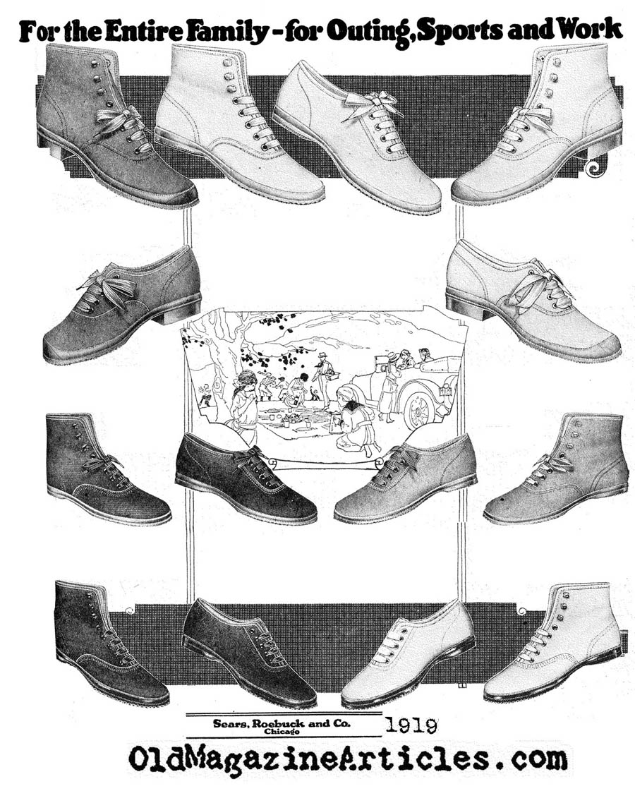 Tennis Shoes  (Sears and Roebuck, 1919)