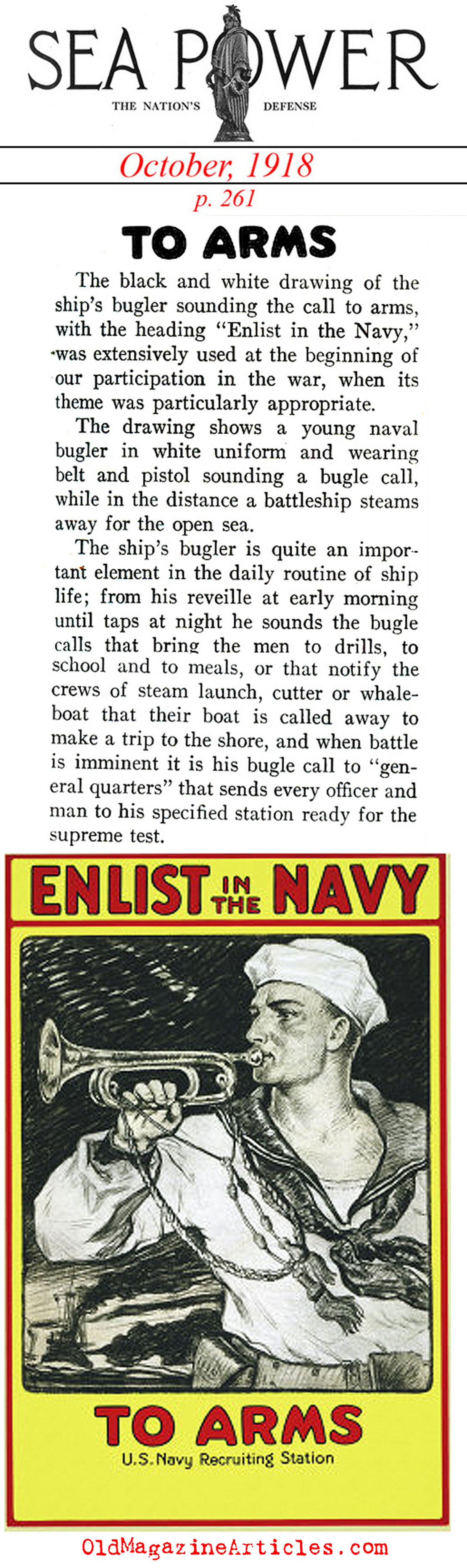The Navy Call to Arms (Sea Power Magazine, 1918)