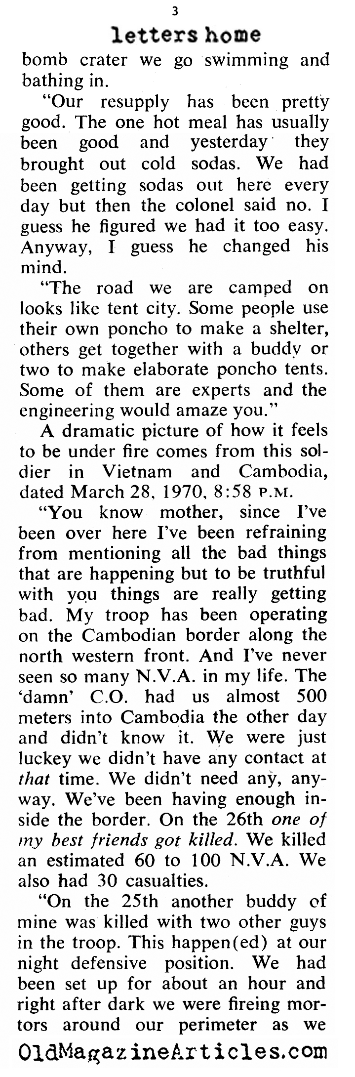 More Letters From Vietnam (Coronet Magazine, 1970)