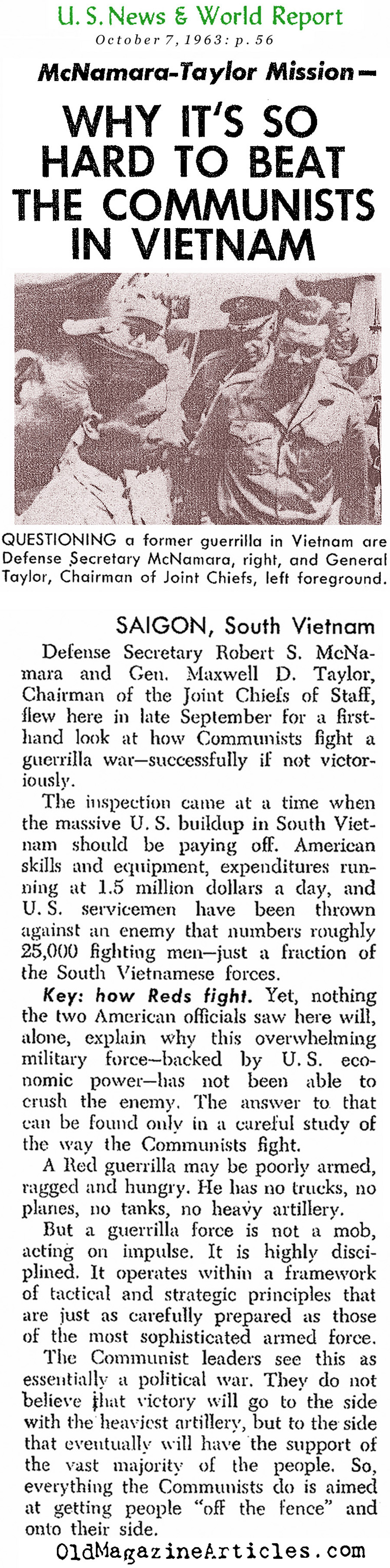 The Difficulties of This War (United States News, 1963)