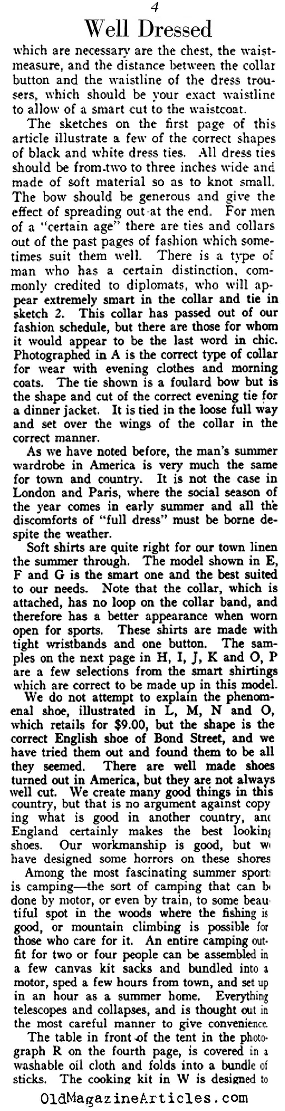 Much Talk of White Waistcoats, Shoes and Shirts  (Vanity Fair Magazine, 1921)