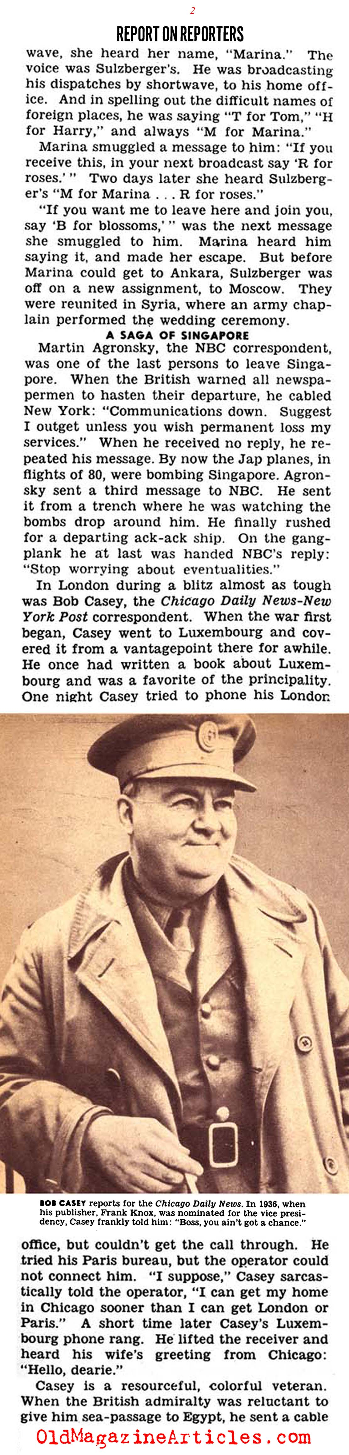 A Report on the War Reporters (Click Magazine, 1944)