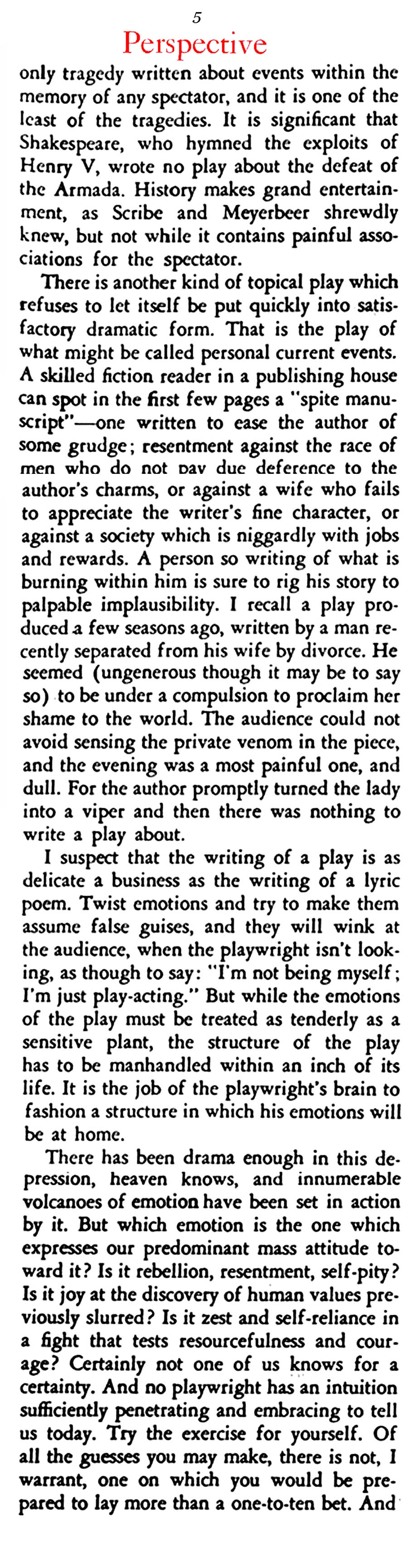 The W.W. I Plays of the Post-War Years (Stage Magazine, 1933)