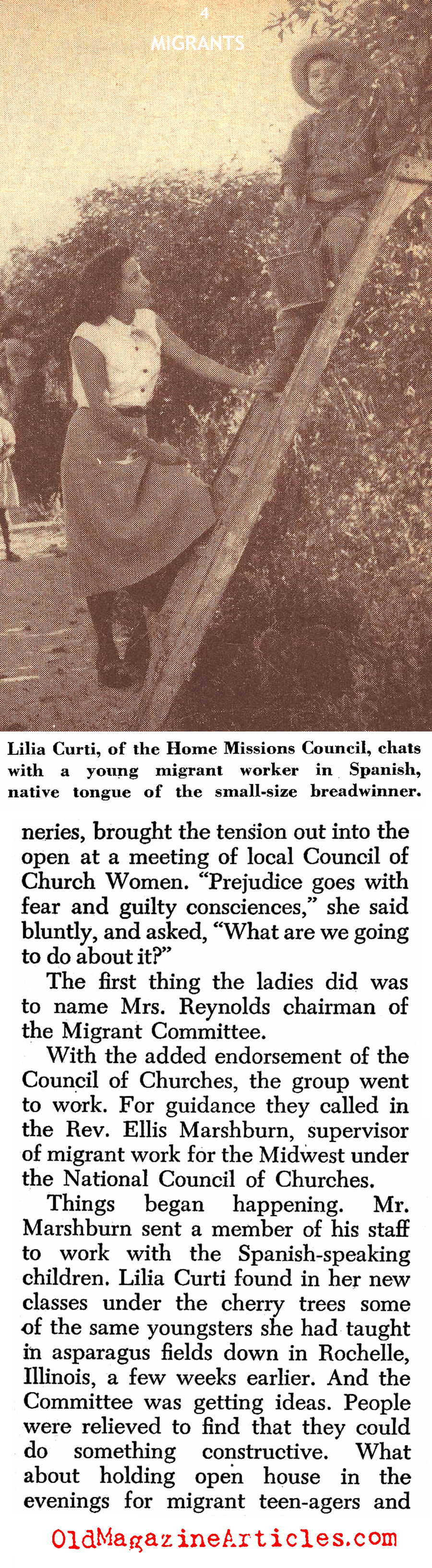 Migrant Labor in Wisconsin (Christian Herald, 1952)