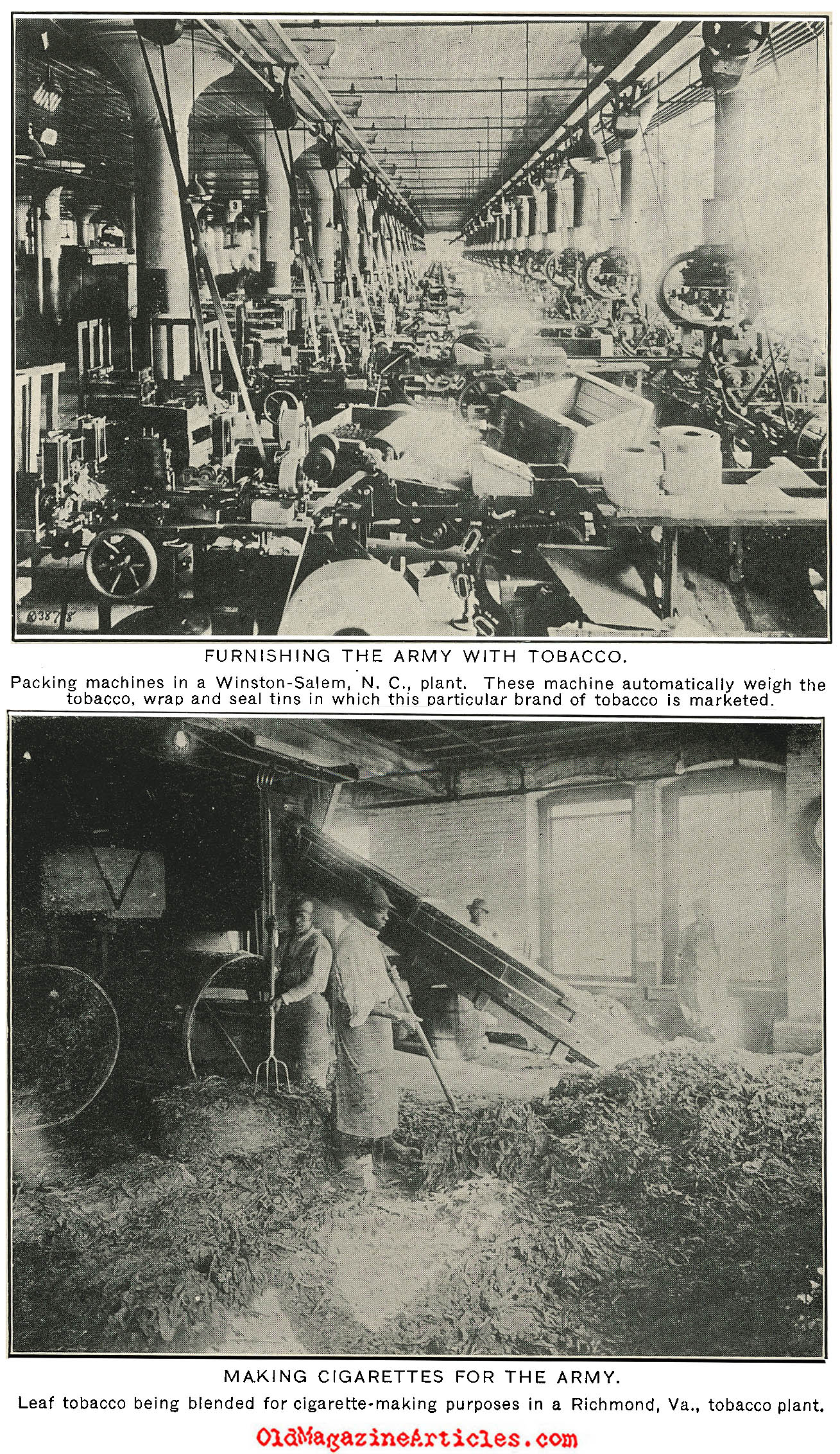 Supplying Tobacco to the AEF (America's Munitions, 1919)