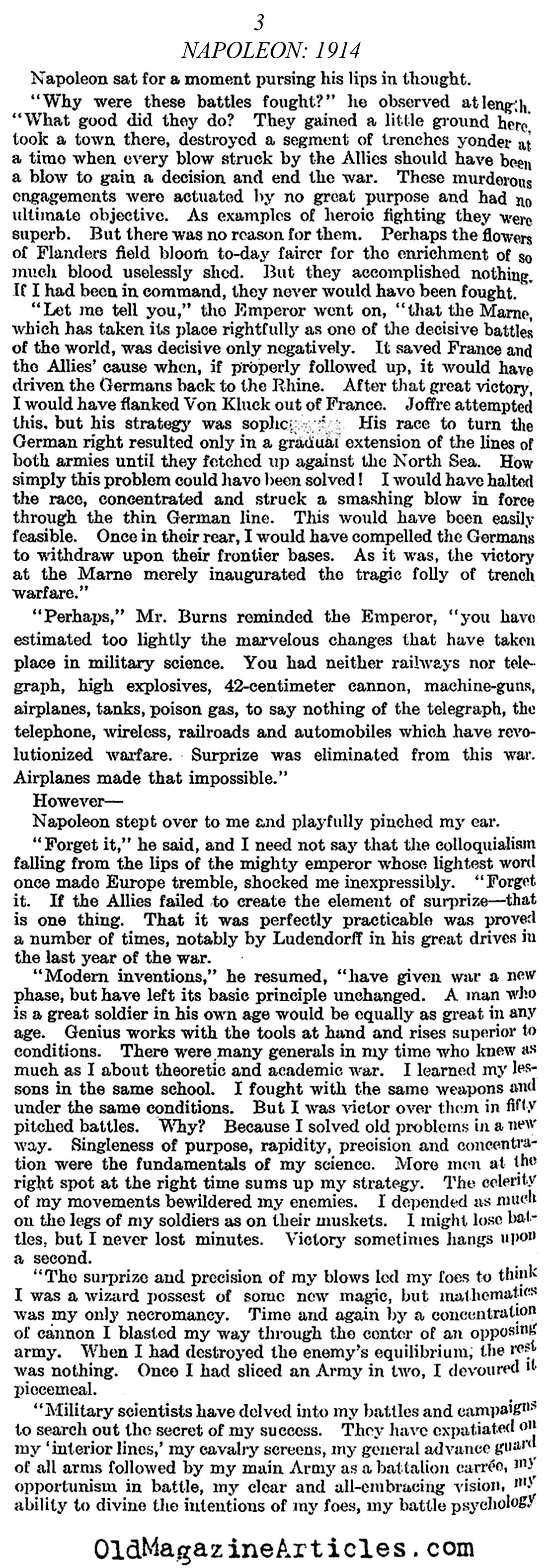 Napoleon Takes Charge (Literary Digest, 1922)