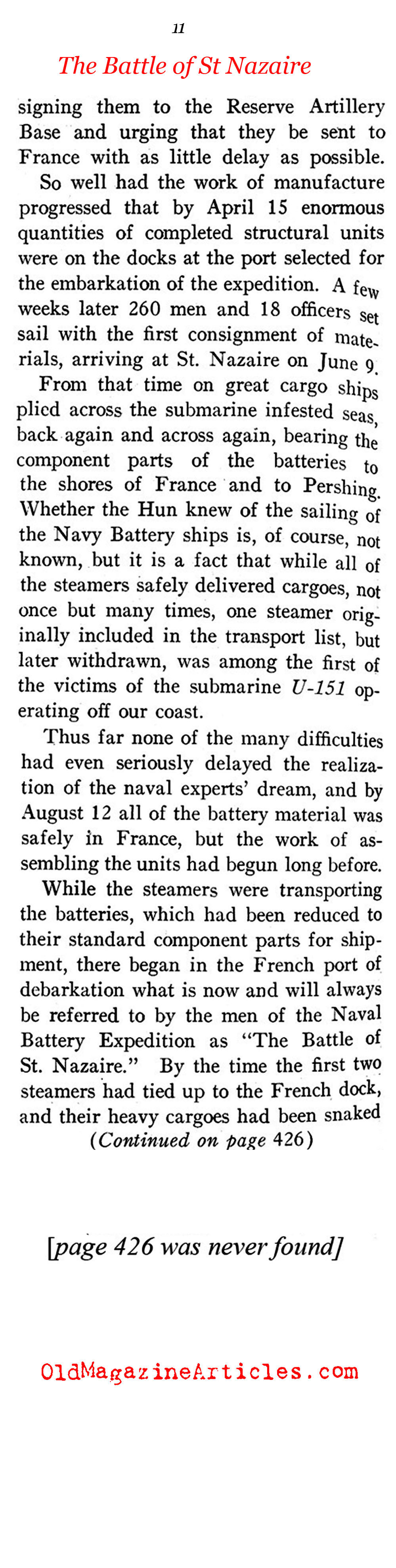 Firing from the Rails (Sea Power Magazine, 1918)