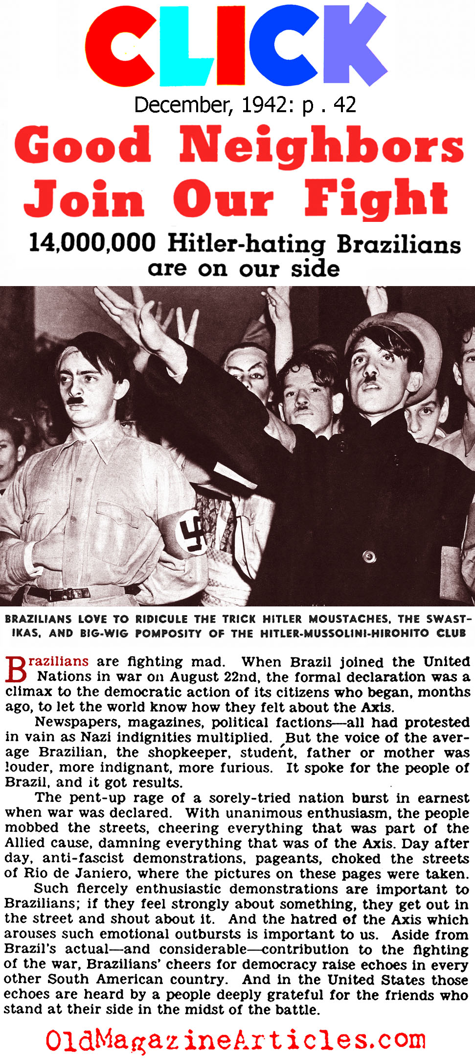 Brazil Goes to War (Click Magazine, 1942)