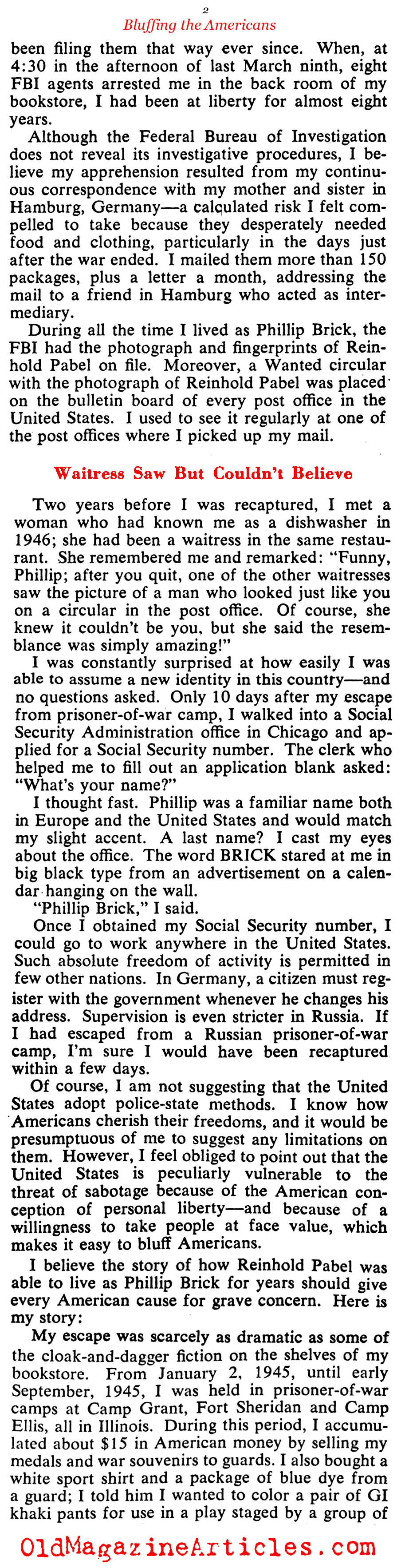 The German Who Escaped (Collier's Magazine, 1953)